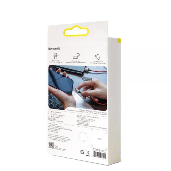 Baseus Zinc magnetyczny kabel USB + zestaw końcówek Lightning  USB Typ C  micro USB 3A 1m czarny