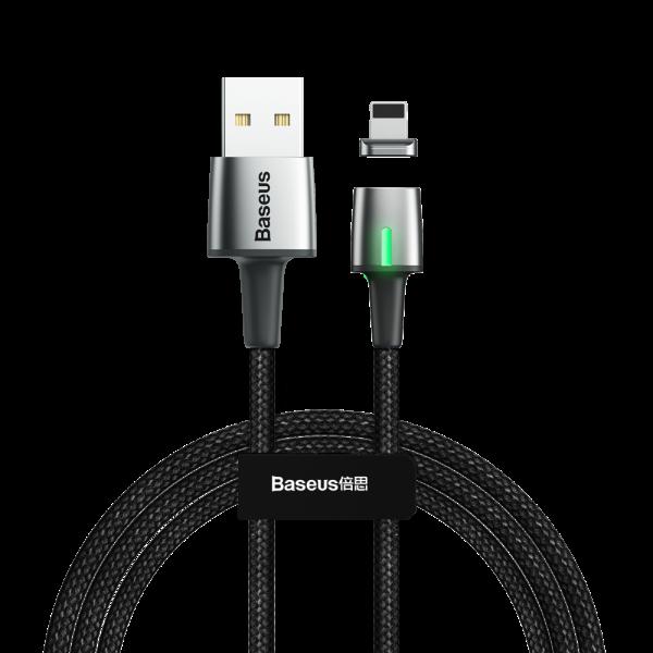Baseus Zinc magnetyczny przewód, kabel USB / Lightning 1m 2.4A